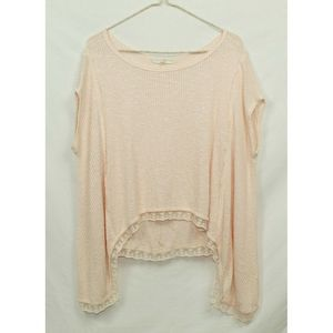 Altar'd state pink  knit top Sz S Lace Bottom